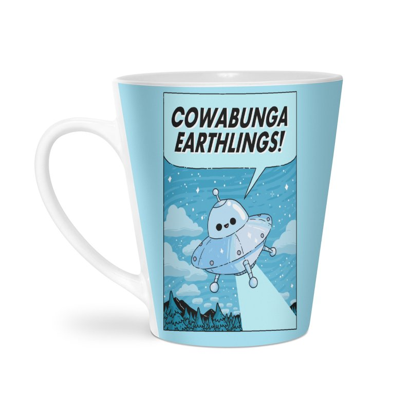 COWABUNGA EARTHLINGS Accessories Latte Mug by GOOD AND NICE SHIRTS