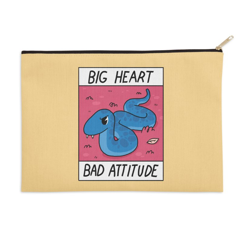 BIG HEART/BAD ATTITUDE Accessories Zip Pouch by GOOD AND NICE SHIRTS