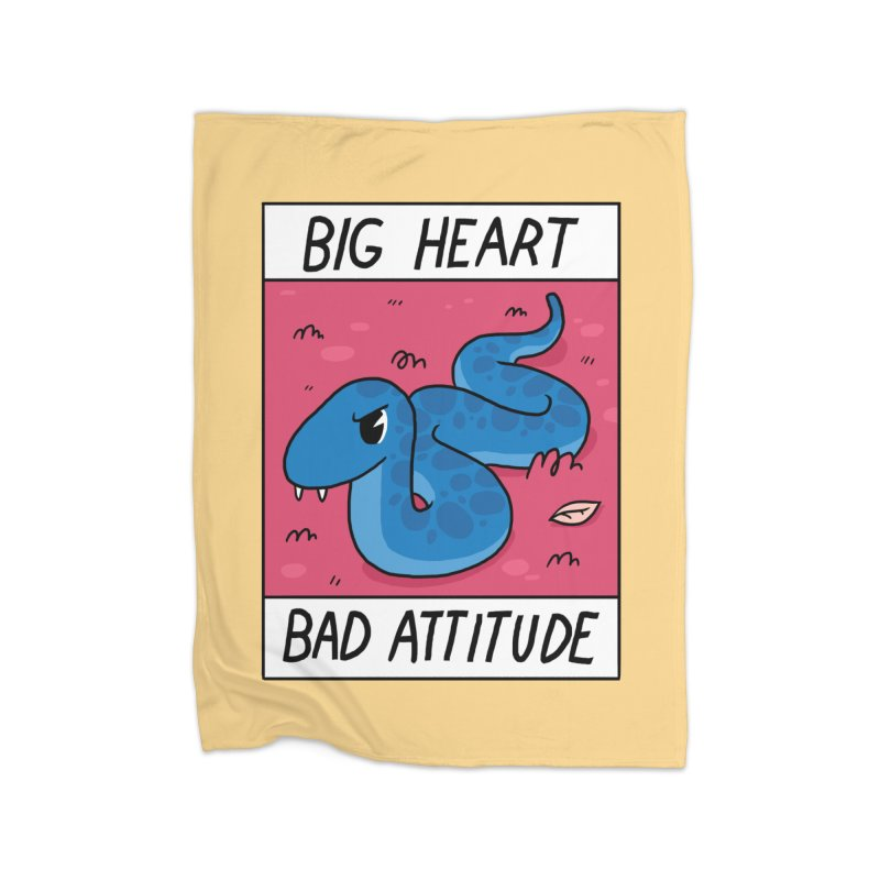 BIG HEART/BAD ATTITUDE Home Fleece Blanket Blanket by GOOD AND NICE SHIRTS