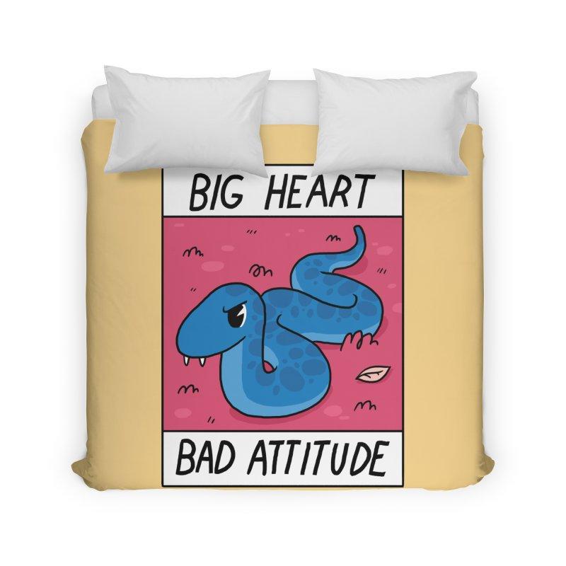 BIG HEART/BAD ATTITUDE Home Duvet by GOOD AND NICE SHIRTS