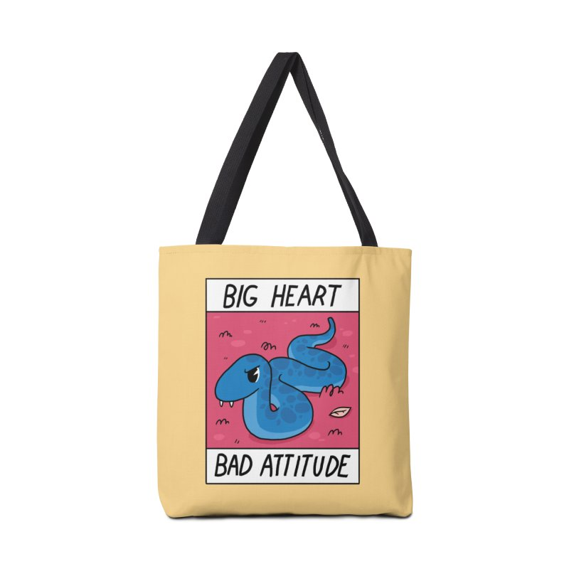 BIG HEART/BAD ATTITUDE Accessories Bag by GOOD AND NICE SHIRTS