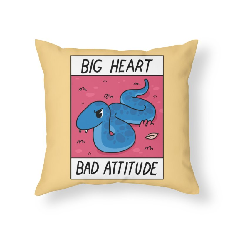 BIG HEART/BAD ATTITUDE Home Throw Pillow by GOOD AND NICE SHIRTS