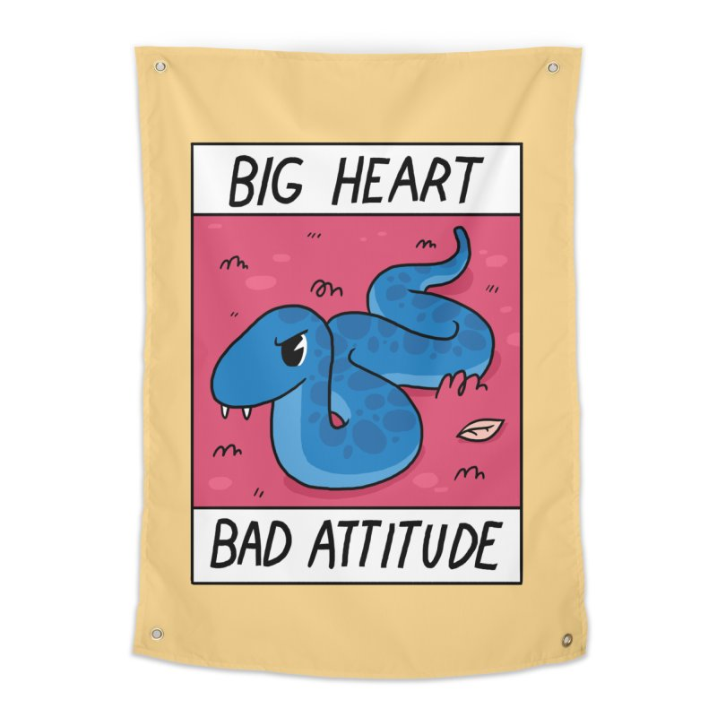 BIG HEART/BAD ATTITUDE Home Tapestry by GOOD AND NICE SHIRTS