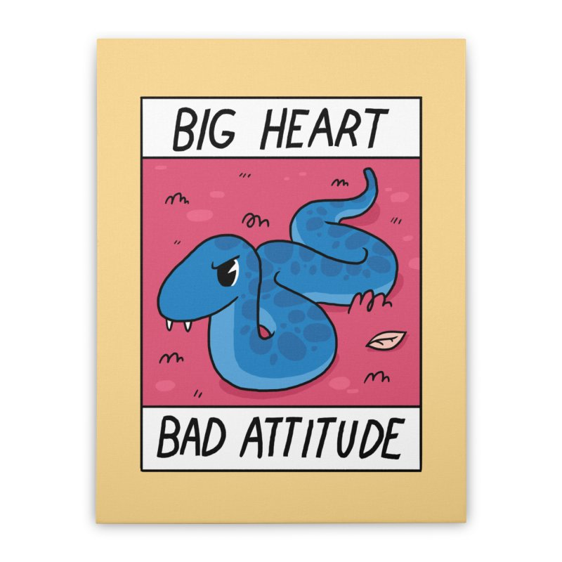 BIG HEART/BAD ATTITUDE Home Stretched Canvas by GOOD AND NICE SHIRTS