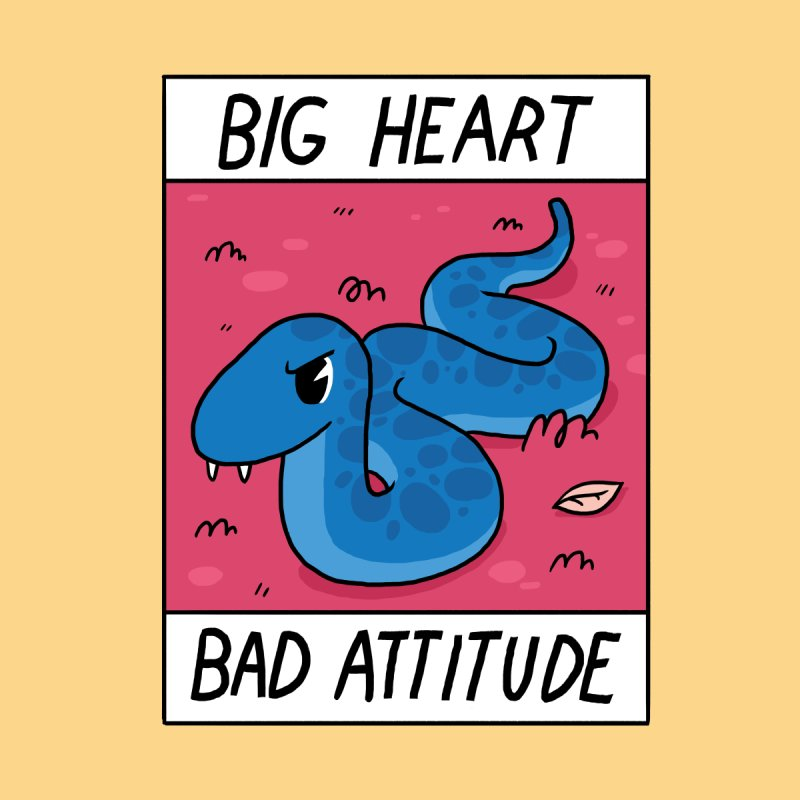 BIG HEART/BAD ATTITUDE None  by GOOD AND NICE SHIRTS