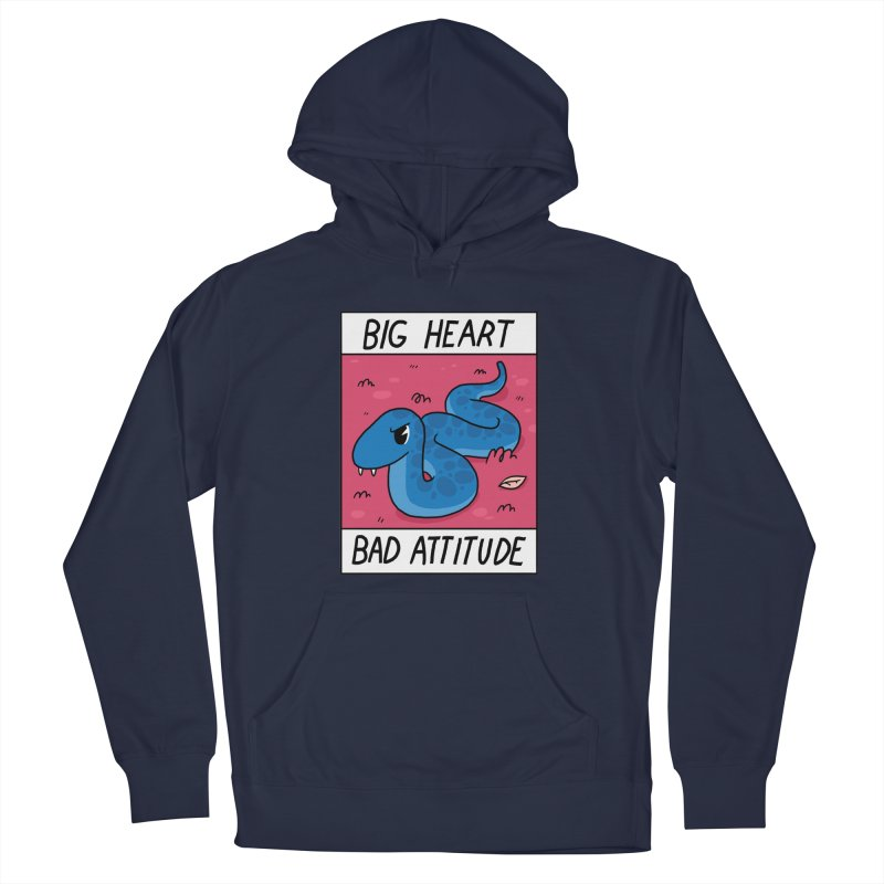 BIG HEART/BAD ATTITUDE Women's Pullover Hoody by GOOD AND NICE SHIRTS