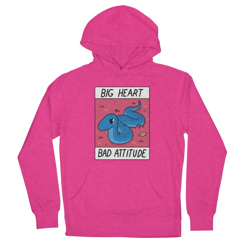 BIG HEART/BAD ATTITUDE Men's Pullover Hoody by GOOD AND NICE SHIRTS
