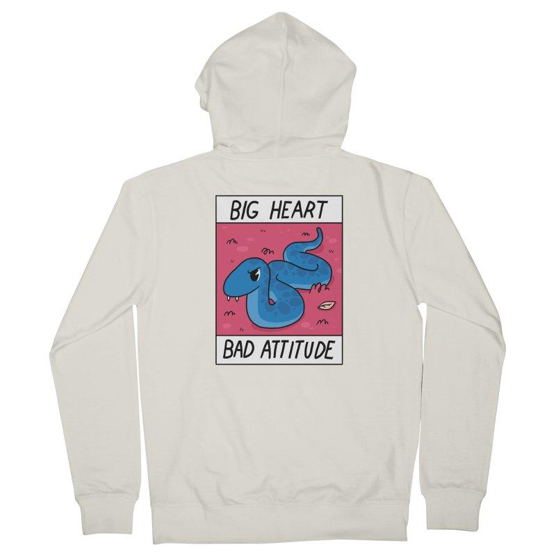 BIG HEART/BAD ATTITUDE Women's Zip-Up Hoody by GOOD AND NICE SHIRTS