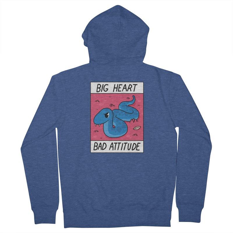 BIG HEART/BAD ATTITUDE Men's Zip-Up Hoody by GOOD AND NICE SHIRTS