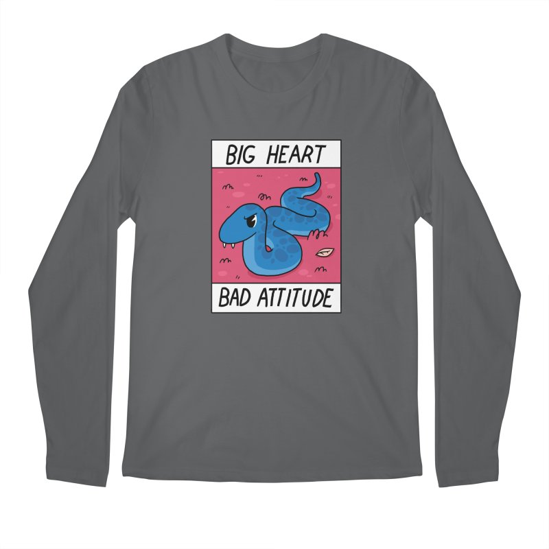 BIG HEART/BAD ATTITUDE Men's Longsleeve T-Shirt by GOOD AND NICE SHIRTS