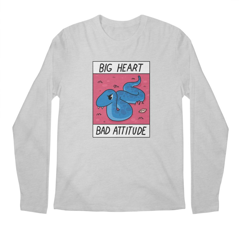 BIG HEART/BAD ATTITUDE Men's Longsleeve T-Shirt by GOOD AND NICE SHIRTS