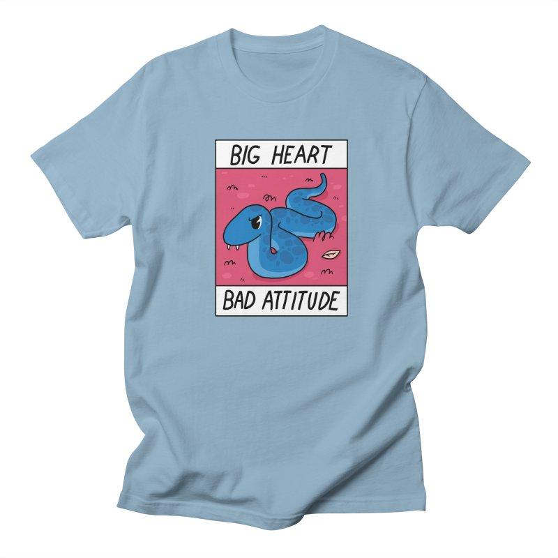 BIG HEART/BAD ATTITUDE Women's Regular Unisex T-Shirt by GOOD AND NICE SHIRTS