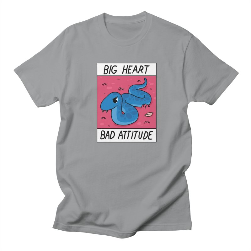 BIG HEART/BAD ATTITUDE Women's Unisex T-Shirt by GOOD AND NICE SHIRTS