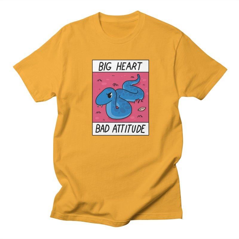 BIG HEART/BAD ATTITUDE Men's T-shirt by GOOD AND NICE SHIRTS