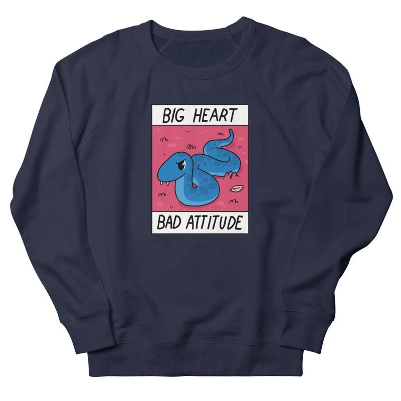 BIG HEART/BAD ATTITUDE Women's Sweatshirt by GOOD AND NICE SHIRTS