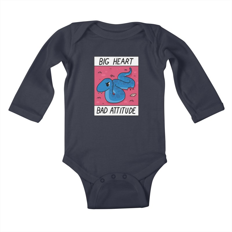 BIG HEART/BAD ATTITUDE Kids Baby Longsleeve Bodysuit by GOOD AND NICE SHIRTS