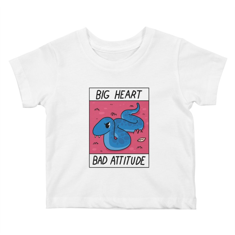 BIG HEART/BAD ATTITUDE Kids Baby T-Shirt by GOOD AND NICE SHIRTS