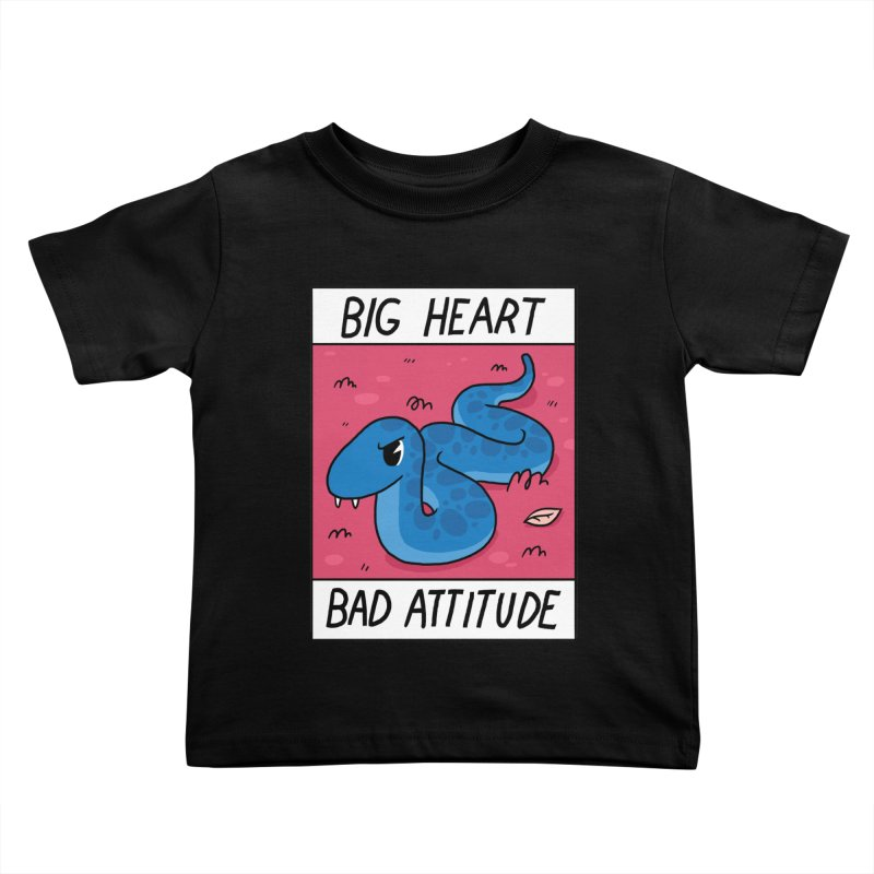 BIG HEART/BAD ATTITUDE Kids Toddler T-Shirt by GOOD AND NICE SHIRTS