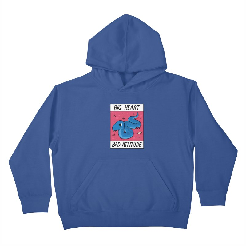 BIG HEART/BAD ATTITUDE Kids Pullover Hoody by GOOD AND NICE SHIRTS