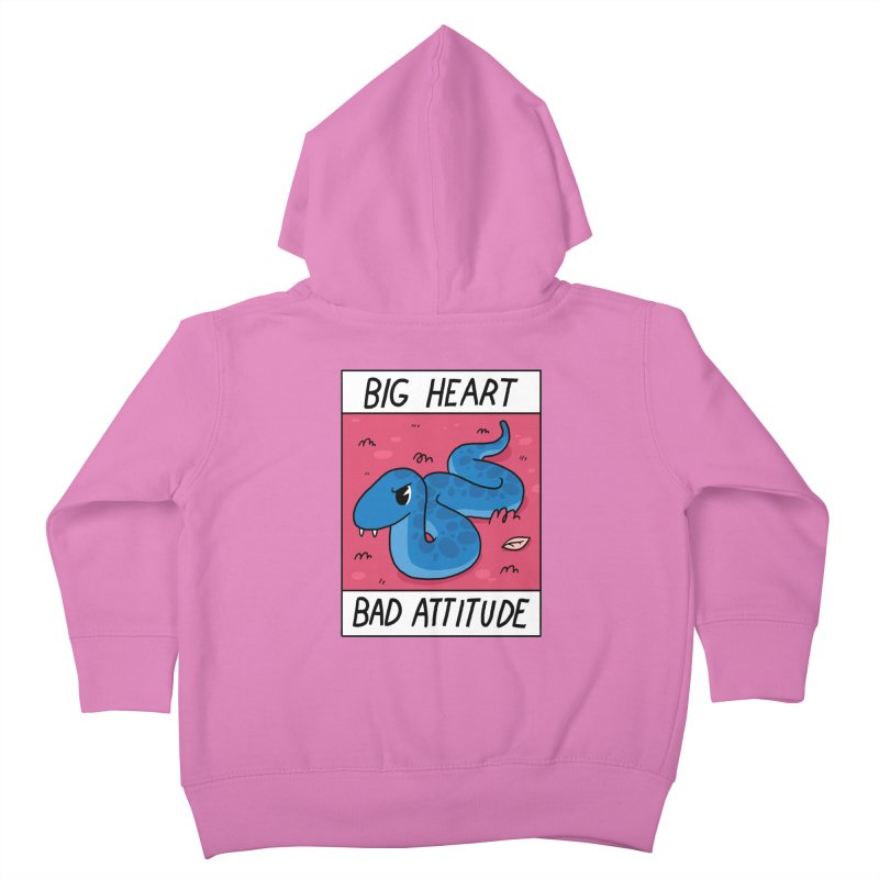 BIG HEART/BAD ATTITUDE Kids Toddler Zip-Up Hoody by GOOD AND NICE SHIRTS