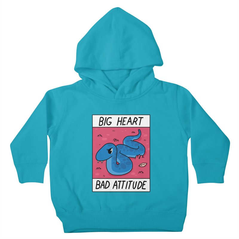 BIG HEART/BAD ATTITUDE Kids Toddler Pullover Hoody by GOOD AND NICE SHIRTS