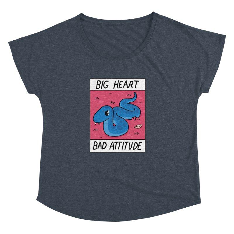 BIG HEART/BAD ATTITUDE Women's Dolman by GOOD AND NICE SHIRTS