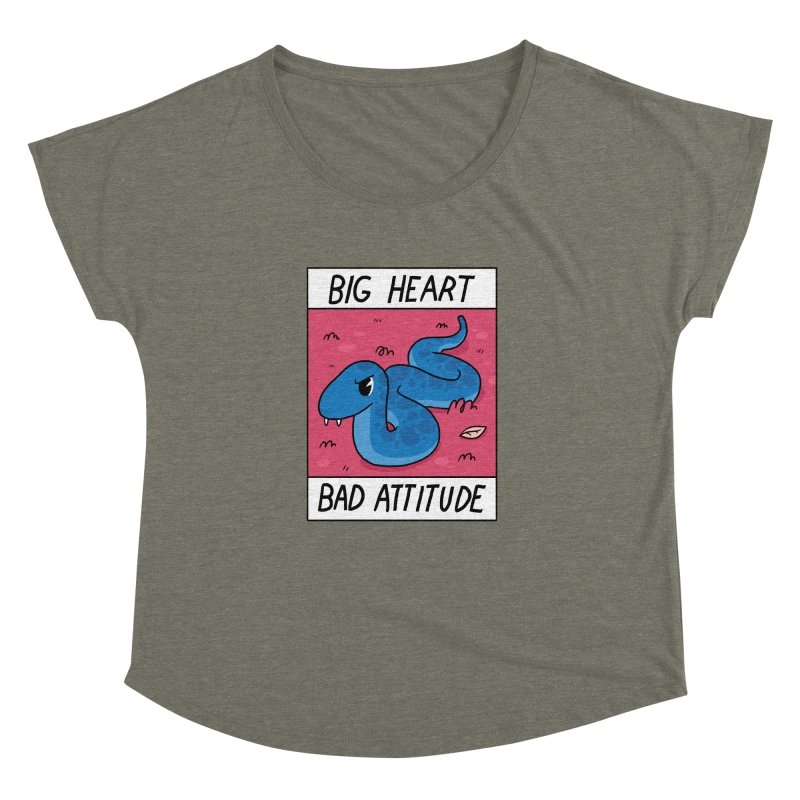 BIG HEART/BAD ATTITUDE Women's Dolman by GOOD AND NICE SHIRTS