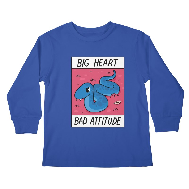 BIG HEART/BAD ATTITUDE Kids Longsleeve T-Shirt by GOOD AND NICE SHIRTS