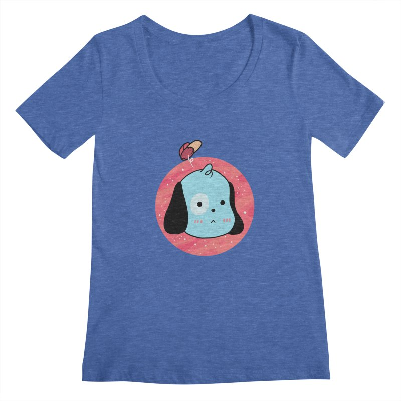 GOOD BOY Women's Scoopneck by GOOD AND NICE SHIRTS
