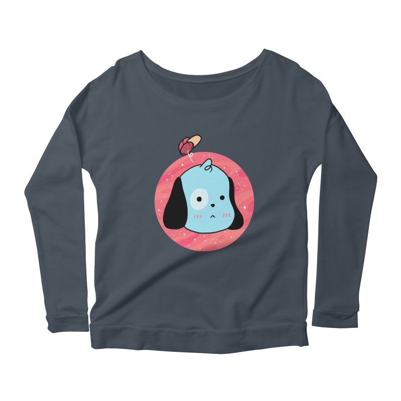 GOOD BOY Women's Longsleeve Scoopneck  by GOOD AND NICE SHIRTS