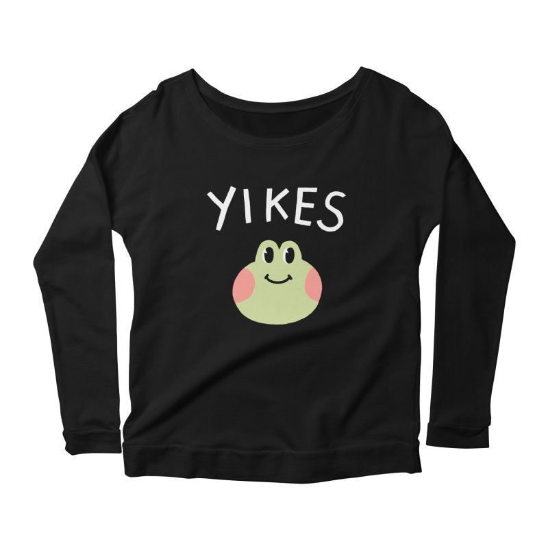 YIKES Women's Longsleeve Scoopneck  by GOOD AND NICE SHIRTS