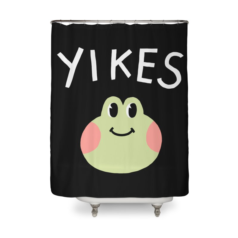 YIKES Home Shower Curtain by GOOD AND NICE SHIRTS