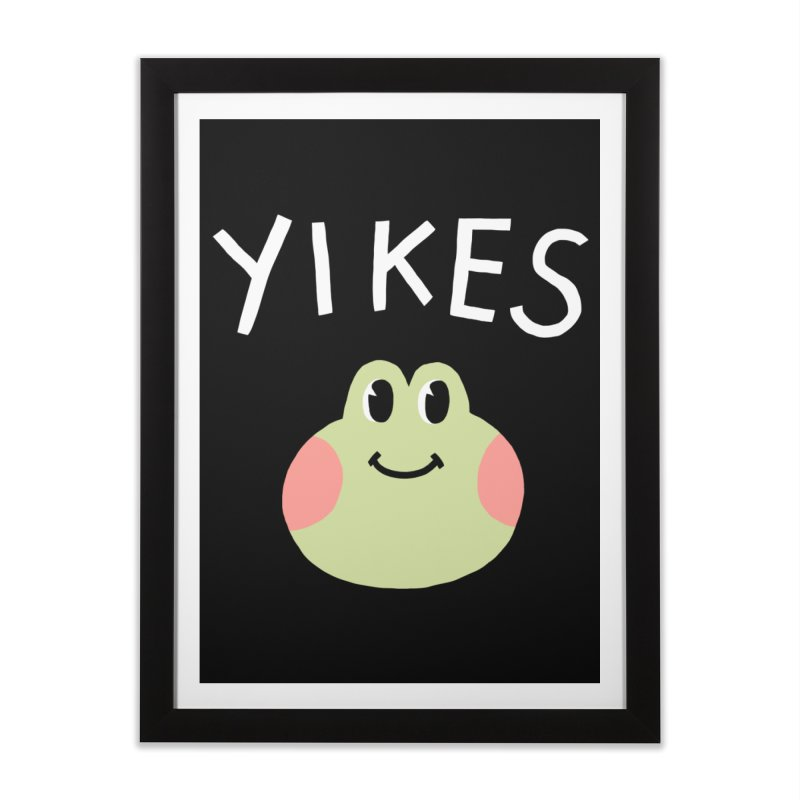 YIKES Home Framed Fine Art Print by GOOD AND NICE SHIRTS