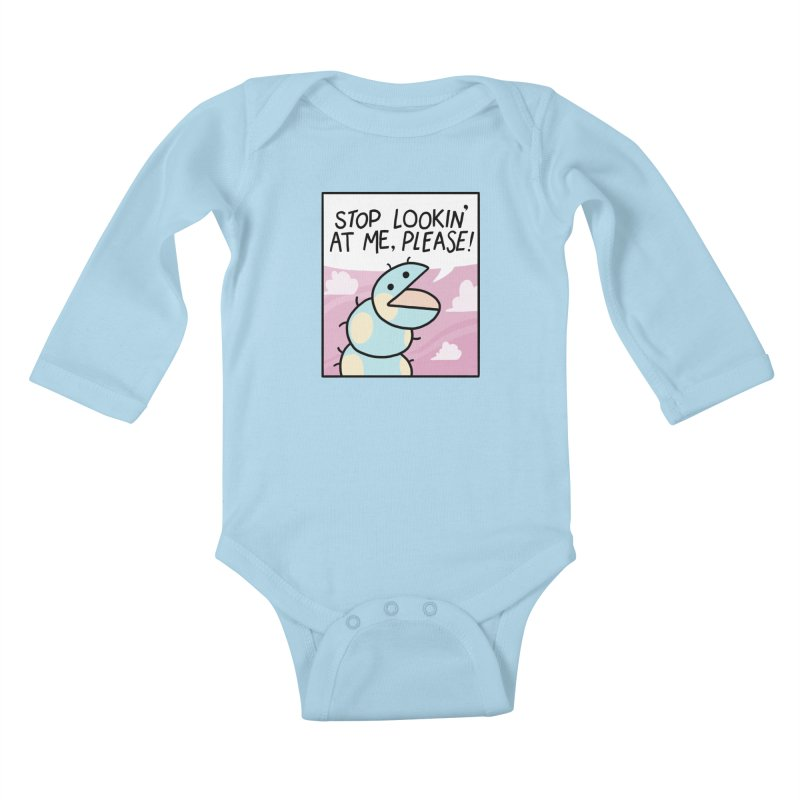 SHY BUG Kids Baby Longsleeve Bodysuit by GOOD AND NICE SHIRTS