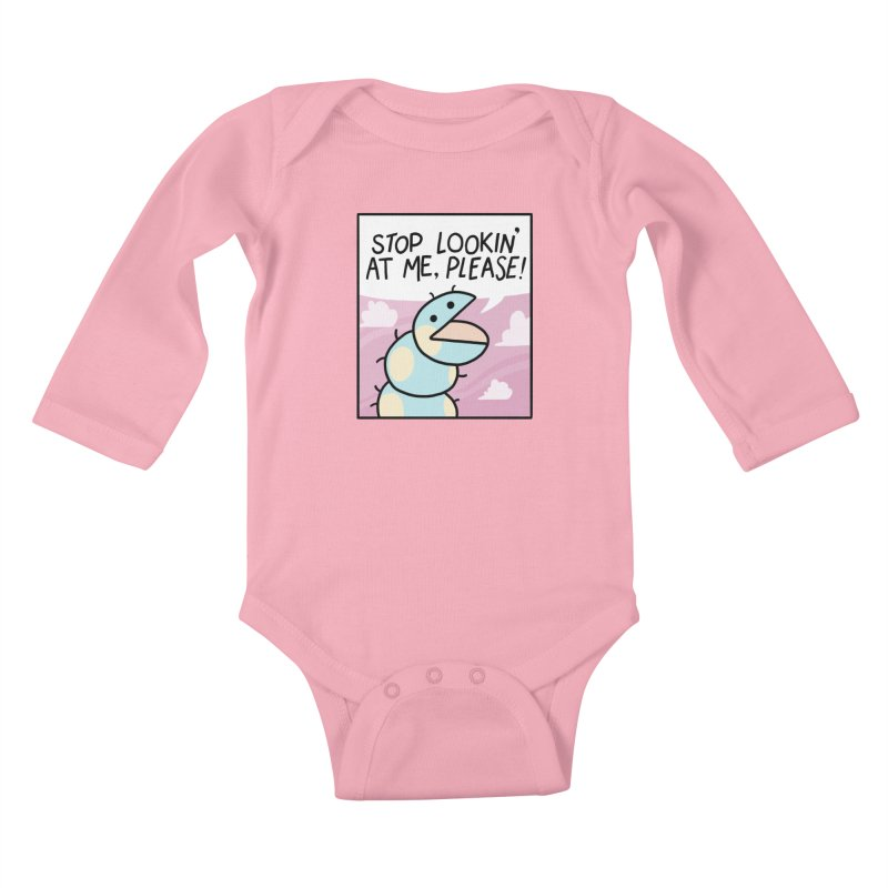 SHY BUG Kids Baby Longsleeve Bodysuit by GOOD AND NICE SHIRTS