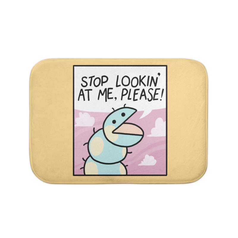 SHY BUG Home Bath Mat by GOOD AND NICE SHIRTS