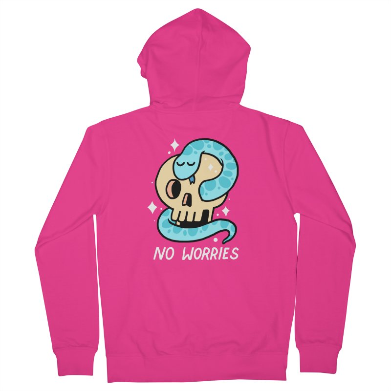 NO WORRIES Men's Zip-Up Hoody by GOOD AND NICE SHIRTS
