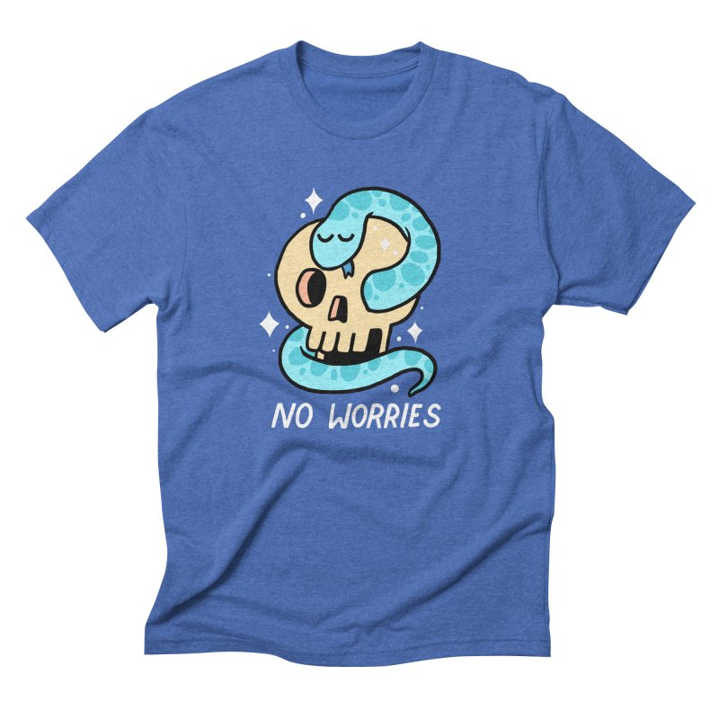 NO WORRIES Men's Triblend T-shirt by GOOD AND NICE SHIRTS