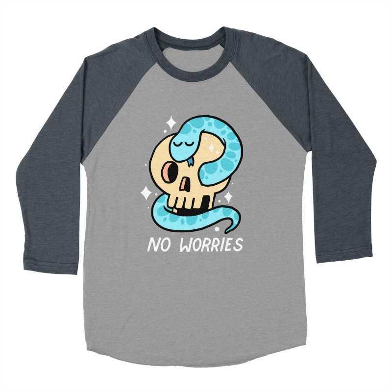 NO WORRIES Women's Baseball Triblend T-Shirt by GOOD AND NICE SHIRTS