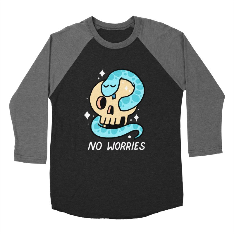 NO WORRIES Men's Baseball Triblend T-Shirt by GOOD AND NICE SHIRTS