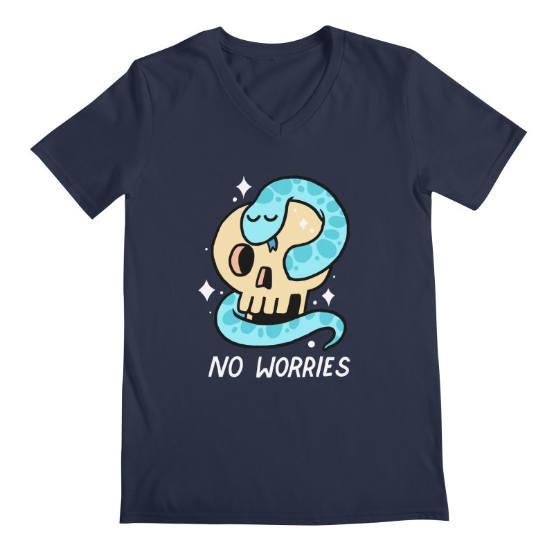 NO WORRIES Men's V-Neck by GOOD AND NICE SHIRTS