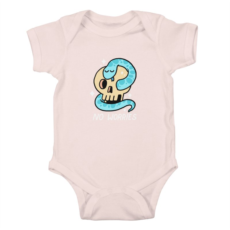 NO WORRIES Kids Baby Bodysuit by GOOD AND NICE SHIRTS