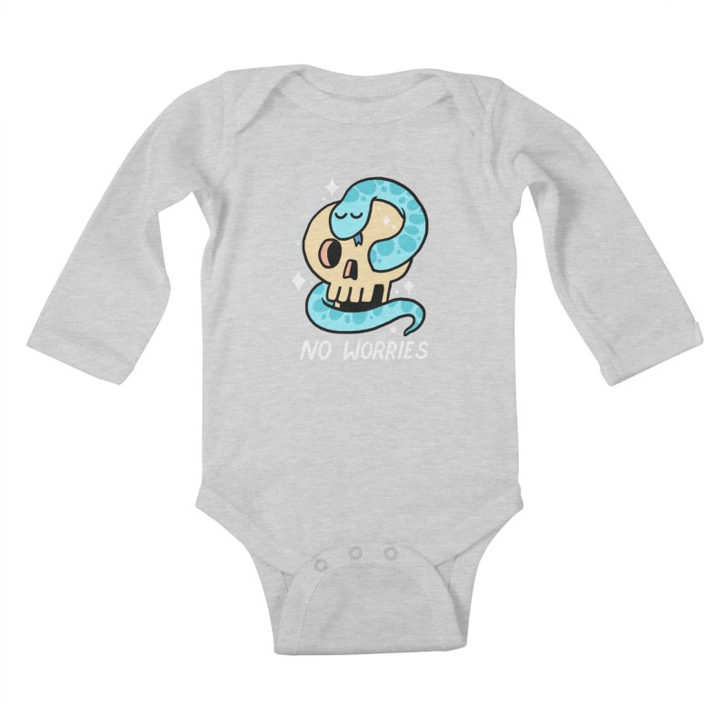 NO WORRIES Kids Baby Longsleeve Bodysuit by GOOD AND NICE SHIRTS