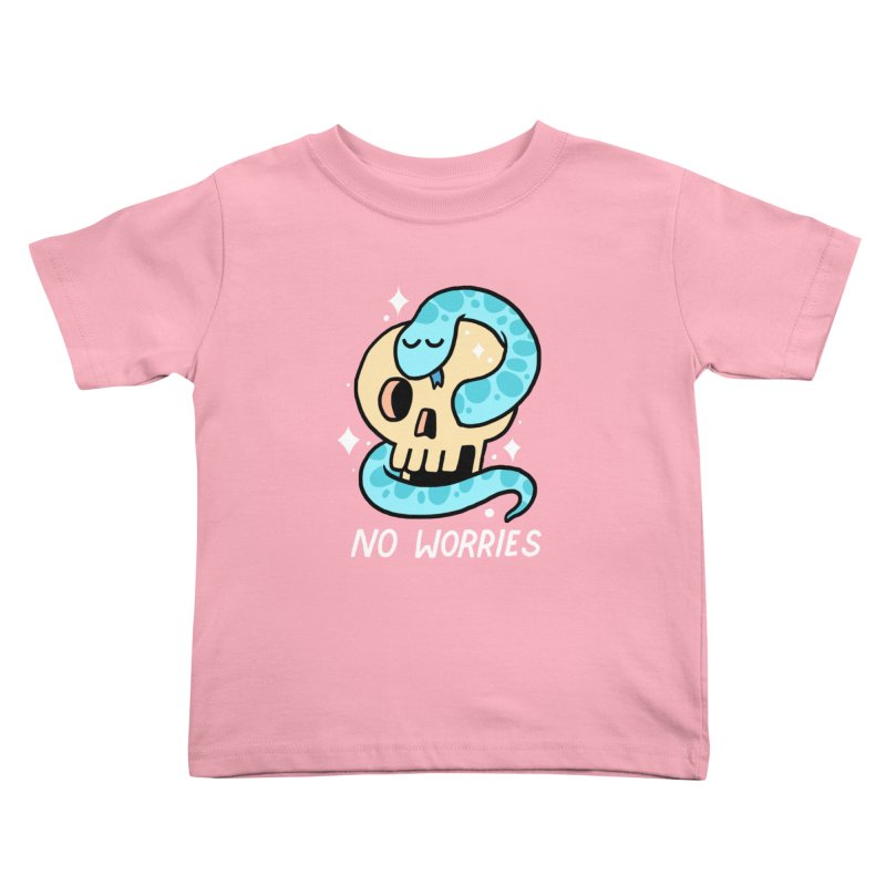 NO WORRIES Kids Toddler T-Shirt by GOOD AND NICE SHIRTS