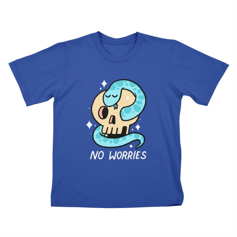 NO WORRIES Kids T-Shirt by GOOD AND NICE SHIRTS