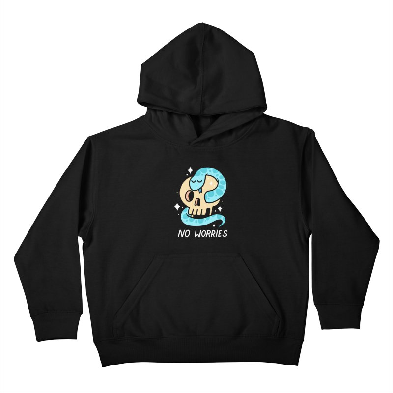 NO WORRIES Kids Pullover Hoody by GOOD AND NICE SHIRTS