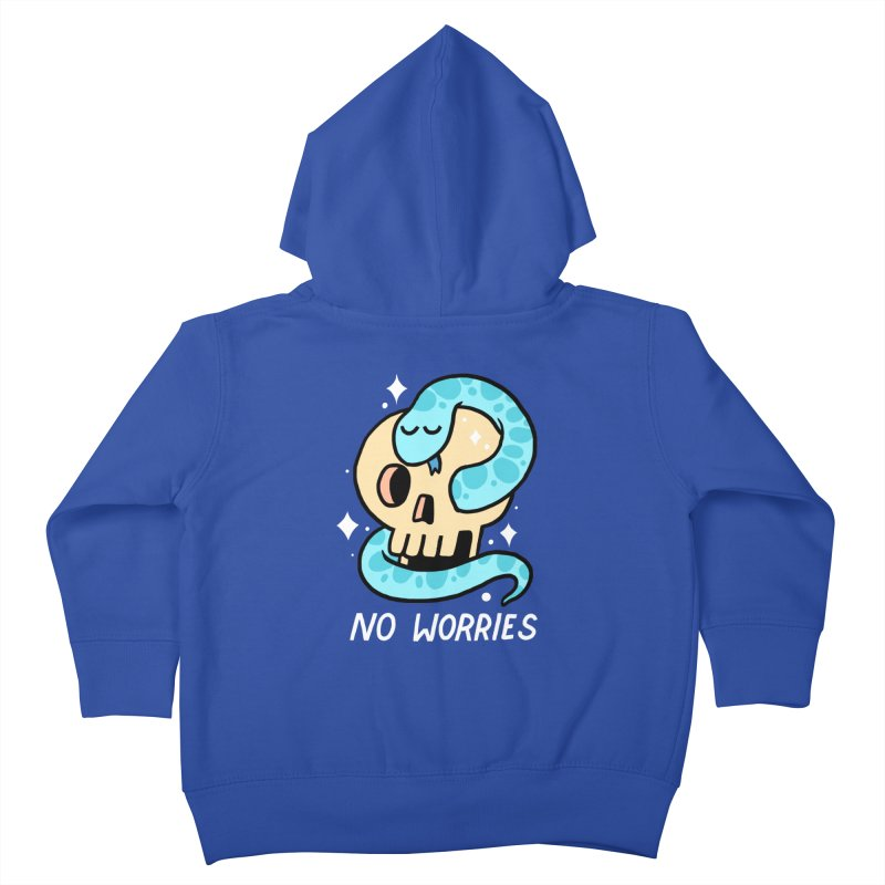 NO WORRIES Kids Toddler Zip-Up Hoody by GOOD AND NICE SHIRTS