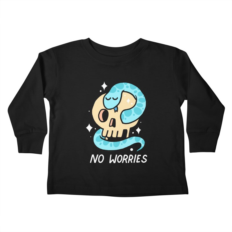 NO WORRIES Kids Toddler Longsleeve T-Shirt by GOOD AND NICE SHIRTS