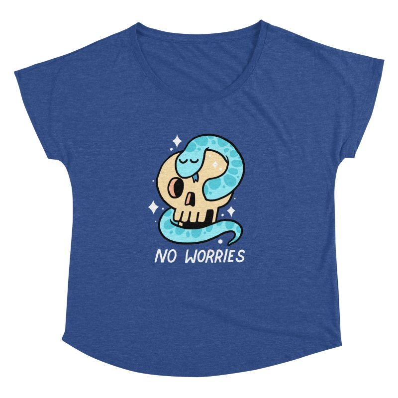NO WORRIES Women's Dolman by GOOD AND NICE SHIRTS