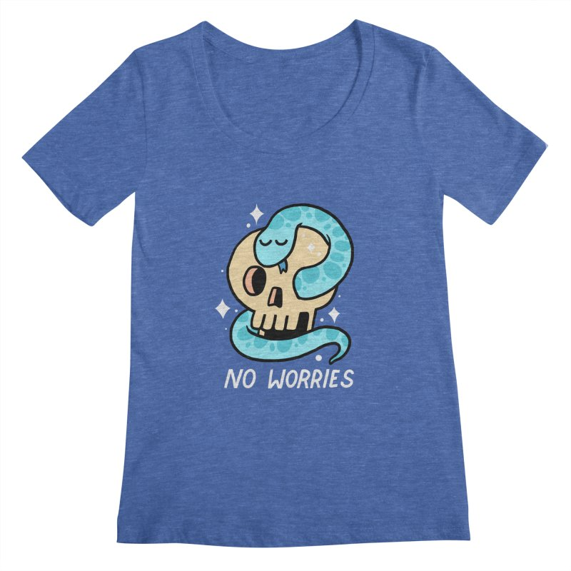 NO WORRIES Women's Scoopneck by GOOD AND NICE SHIRTS